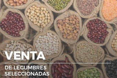 venta de legumbres seleccionadas